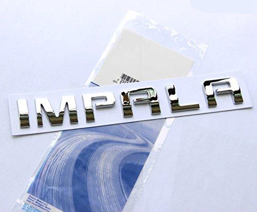 Yoaoo 1x OEM Chrome Impala Nameplate Alloy Letter Emblem Badge Glossy for Gm Impala ()