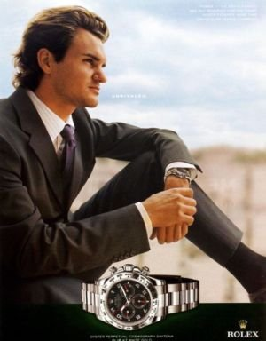 Amazon Com Print Ad With Roger Federer For Rolex Stainless