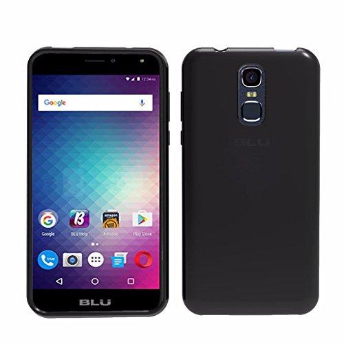 Blu Life Max L0110UU Cellphone Case, TPU Soft Gel Rubber Skin Silicone Protective Case Cover (TPU Black)