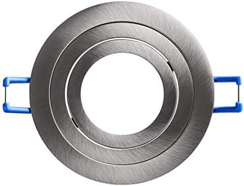SEBSON Einbaustrahler rund schwenkbar 12er Pack, Alu Einbaurahmen Lochdurchmesser 80mm, Decken Spot inkl. GU10 Fassung für LED/Halogen