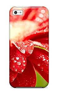 Forever Collectibles Amazing Red Flower Hard Snap-on Iphone 5c Case