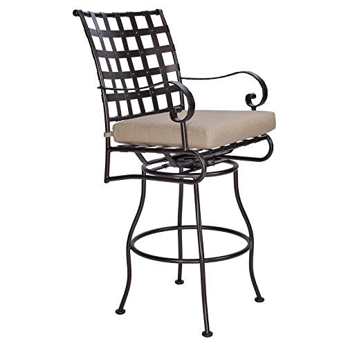OW Lee Classico Swivel Bar Stool With Arms (Spectrum Sesame) (Classico Bar)