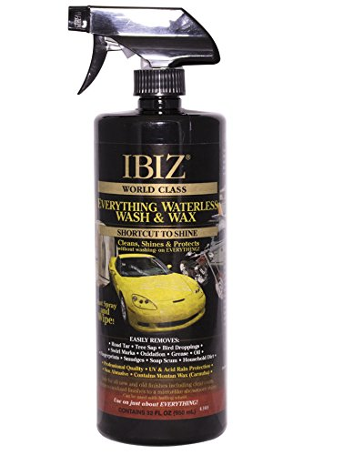 32 Ounce Waterless Car Wash and Wax Kit - Best Value. It's As Easy As IBIZ Clean. Clean, Polish and Protect Your Car, SUV, Truck, Boat, RV or More. For over 50 years, IBIZ offers the best value. (Best Waterless Car Wash Products)