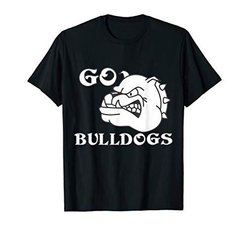 Go Bulldogs Football Baseball Basketball Cheer School Spirit T-Shirt