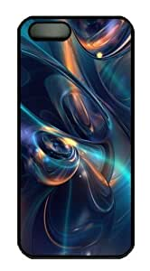 3D abstract blue PC Case Cover For Iphone 5/5S Cover Black Halloween gift