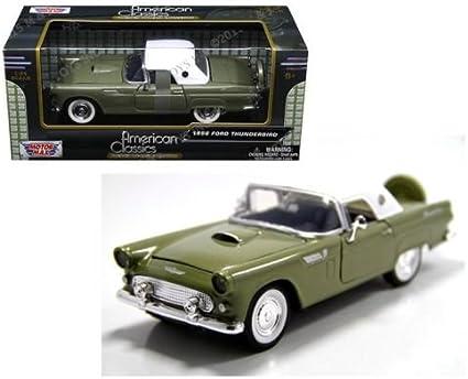 MOTOR MAX 1:24 1956 FORD THUNDERBIRD DIECAST GREEN 73312AC-GRN