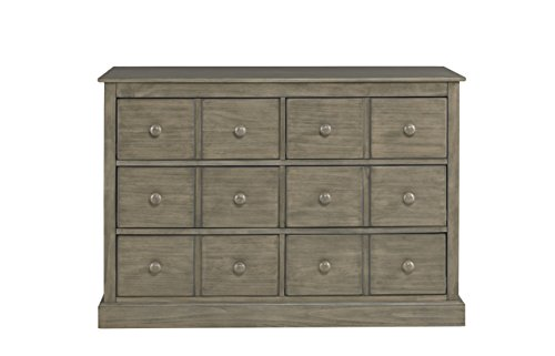Fisher-Price Signature 6 Drawer Double Dresser, Vintage Grey