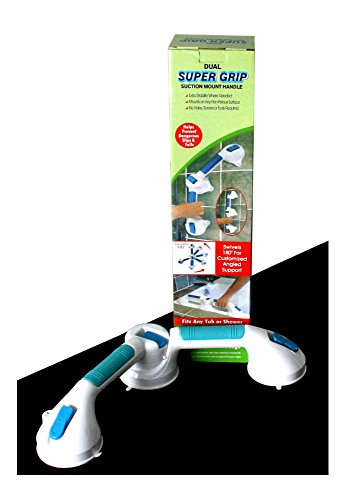 """20"""" Dual Super Grip 3-Way Suction Mount Safety Bathtub Handle Grab Bar from Unknown"""