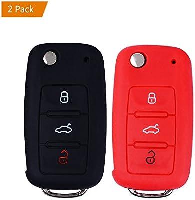E-Mandala Funda Llave VW, 3 Botones Llave Carcasa in Silicona para ...