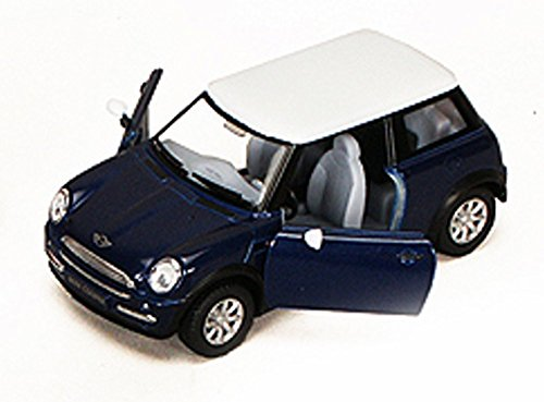 New Mini Cooper, Blue - Kinsmart 5042D - 1/28 scale Diecast Model Toy Car ()