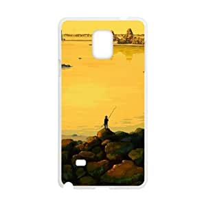 HD exquisite image for Samsung Galaxy Note 4 Cell Phone Case White fishing at dawn MIO5034055