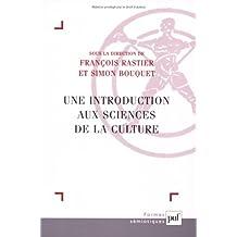 Une introduction aux sciences de la culture