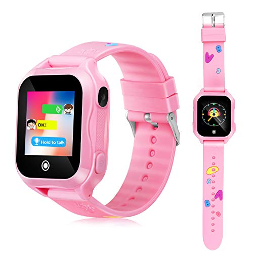 Kids Phone Smart Watch, GPS Tracker Smart Watches for Children Girls Boys 1.44inch Touch Screen Camera Waterproof SOS WiFi Smart Cell Phone Watch. by KKLE
