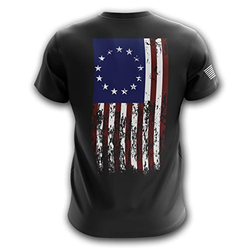 Tactical Pro Supply American Flag Military Army Mens T Shirt ('76 Flag, Medium) ()