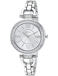 Women's 'Leah' Quartz Stainless Steel and Alloy Casual Watch, Color:Silver-Toned (Model: ZR34414)