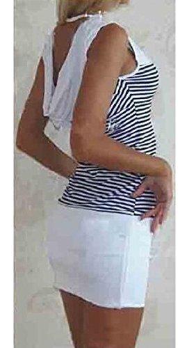 Club Con Da Del Bodycon Della Jaycargogo Sexy Cappuccio Bianco Donna Di Vestito Maniche Senza Ancoraggio Stampa Ftxx1zq5