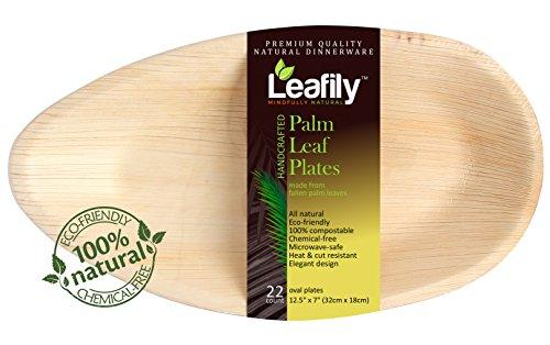 Leafily Palm Leaf Plates - 12.5
