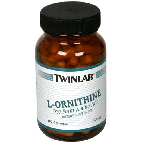 L-ornithine 500 Mg 100 Caps - Twinlab L-Ornithine 500mg, 100 Capsules (Pack of 2)