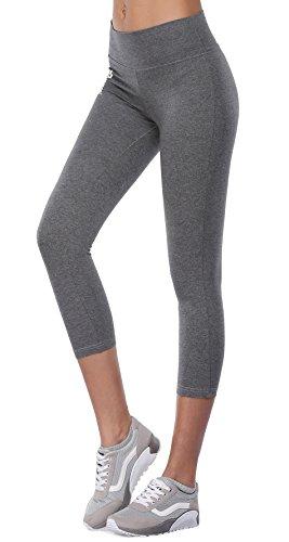 BAOMOSI Women's Workout Active Ankle Legging Reflex Power Flex Yoga Pants Grey XL (Tye Dye Workout Pants compare prices)