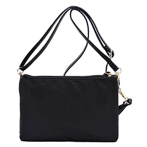 slim Black Nylon bag light crossbody and pockets multi medium purse drrz7B