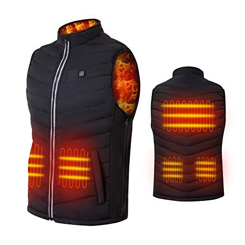 NUNEWARES Heated Vest,USB Charging Lightweight Heated Jacket,Heating Clothing for Men Women,Outdoor(Battery Pack Not Included)