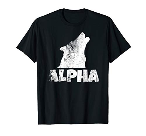 Alpha Lone Wolf T-shirt Pack Member Wildlife Howling Tee]()