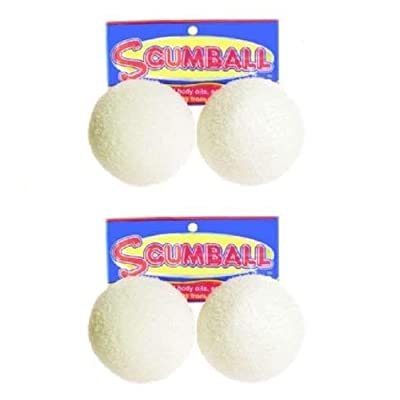 Scumball Surface Oil Absorber Removes Scum Oils from Pool Spa 4 pk Floating Ball: Kitchen & Dining