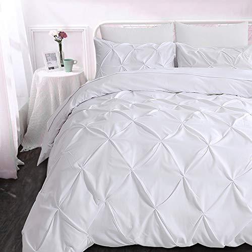 slashome King Duvet Cover, 3Pcs Pinch Pleat Luxurious Decora