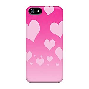 Iphone 5/5s Pink Hearts Tpu Silicone Gel Case Cover. Fits Iphone 5/5s