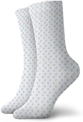 Paw Printsライトブルー通気性足首ソックスカジュアル居心地の良いアスレチッククルーソックス男性用、女性用、子供用