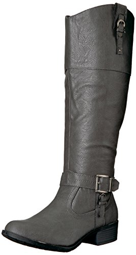 Rampage Women's Ivelia Knee High Boot Grey Wide k4Qh9Yq9dn