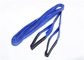 DiversityWrap 5T cinghia di traino doppio strato resistente corda traino a cinghia per argano 4 x 4 Offroad –  blu