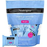 Makeup Remover Cleansing Towelette Singles Individually Wrapped, 20 Pre-moistened Towelettes
