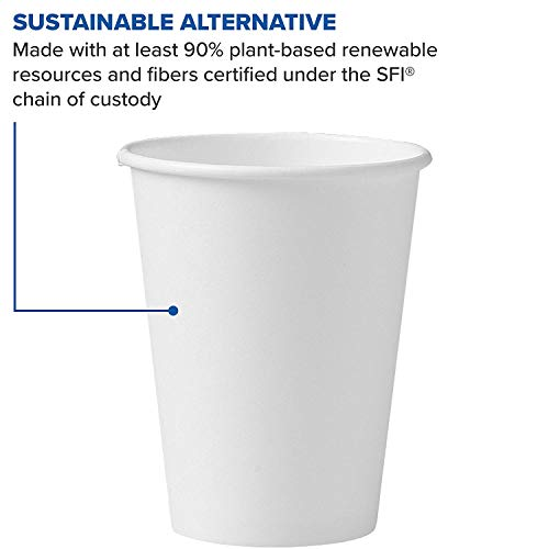 Solo 412WN-2050 12 oz White SSP Paper Hot Cup (Case of 1700) (12 oz (Case of 1700)) by Solo Foodservice (Image #3)