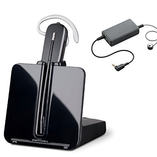 ShoreTel compatible Plantronics Wireless VoIP Headset Bundle | Electronic Remote Answerer Included | ShoreTel IP Phones: 212, 230, 230g, 265, 420, 480, 480g, 485g, 560g, 655 by Global ()