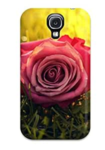 Slim Fit Tpu Protector Shock Absorbent Bumper Beautiful Flowers Case For Galaxy S4