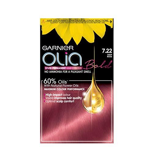 🥇 Garnier Olia Bold 7.22de profundidad rosa permanente tinte de pelo