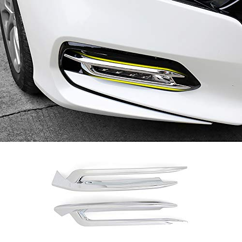 - Kadore Car ABS Chrome Front Fog Light Lamp Cover Trim for Honda Accord 2018 2019 10th Gen 2-pc