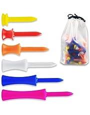 120 Stks Kleurrijke Plastic Golf Ball Nails Golf Tacks Golf Plastic Nagels Golf Limit Nagels Golf Tees 6 Kleuren en 6 Maten met Opbergtas