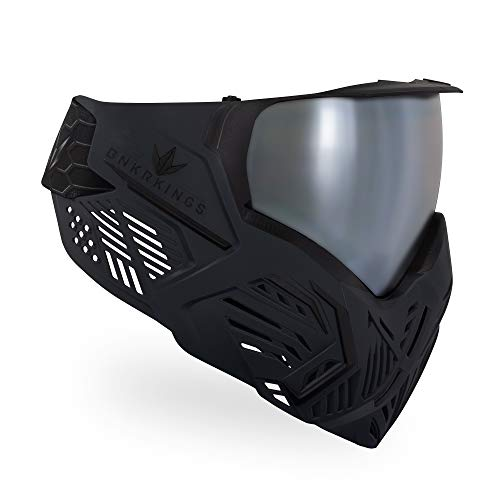 (Bunker Kings CMD Paintball Goggle/Mask - Black Carbon)
