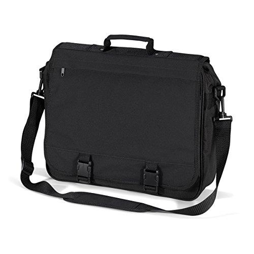 Borsa Tracolla 40x35x11cm Graphite black Portfolio briefcase Documenti BagBase Grey 15L AwdXS5qaax