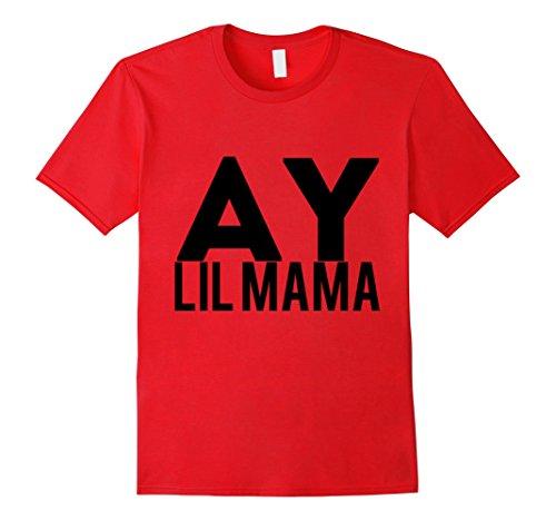 Mens Ay Lil Mama T-Shirt Medium Red