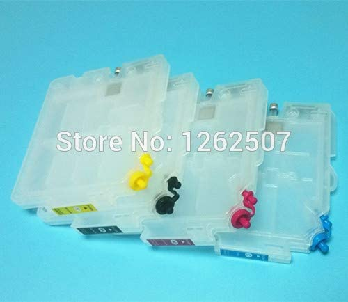 4Colors//Set Empty Inkjet Cartridge With Chip for Ricoh E7700 Printers Printer Spare Parts