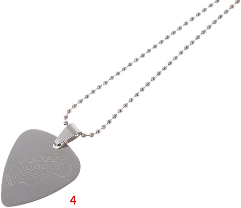 Taichao Stainless Steel Guitar Picks Necklace Pick Pendant Love Heart Chain Decoration