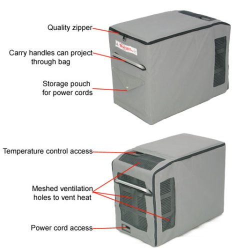 Engel Transit Bag - fits MT27 1 Engel Transit Bag - fits MT27F-U1. Durable outer protective canvas. Insulating and shock absorbing inner layer adds to the insulating factor of your Engel freezer.