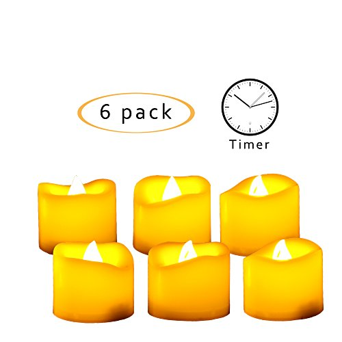Led Light Votive Candles With Timer - 8