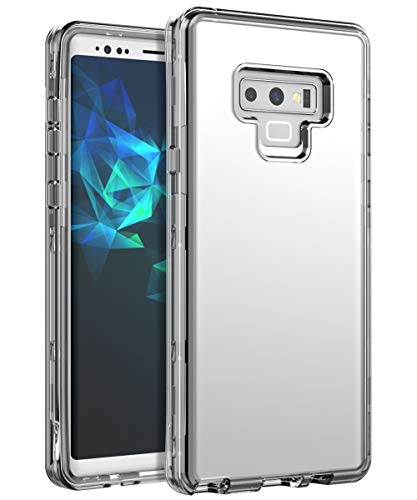 SSSCase Galaxy Note 9 Case,Crystal Clear Heavy Duty Samsung Galaxy Note 9 Case,Three Layers Shock Absorption High Impact Resistant Protective Cover Case for Samsung Galaxy Note 9, Clear