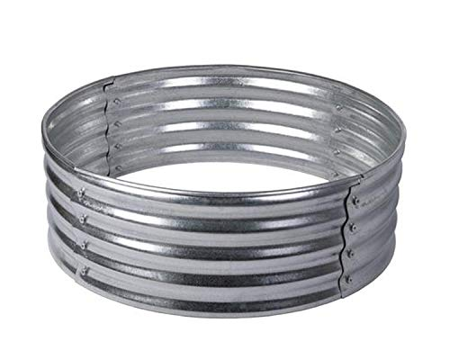 Wisechoice 36 inch Galvanized Steel Wood Fire Ring | Great for Making Bonfire