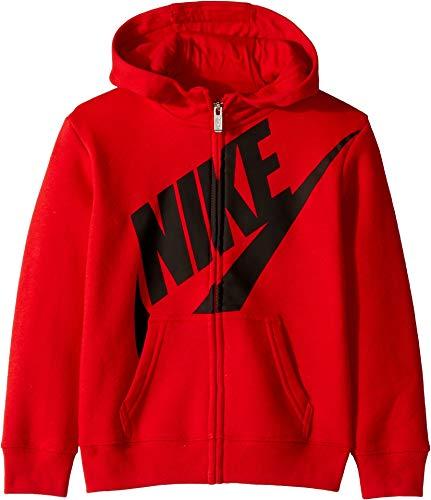 Nike Kids Boy's Futura Fleece Full Zip Hoodie (Little Kids) University Red 6