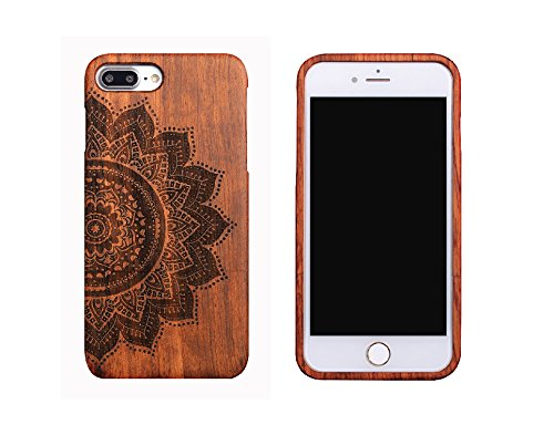 CoCo@ iPhone 7 Plus case,Iphone 7 Plus Wooden Case Wood Cover100% Unique Genuine Handmade Natural Wood Wooden Hard Bamboo Shockproof Case Like as Artw…